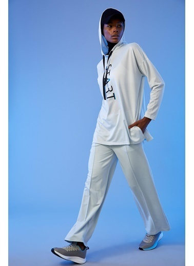 Defacto –Fit Örme Relax Fit Bağcıklı Pantolon Mavi